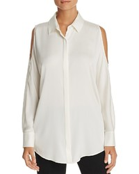DKNY Cold Shoulder Silk Blouse 100%