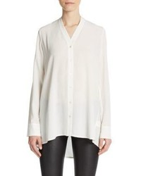 Vince Silk V Neck Blouse
