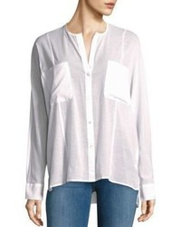 James Perse Solid Button Down Shirt