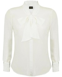 Sophie Cameron Davies Ivory Bow Blouse