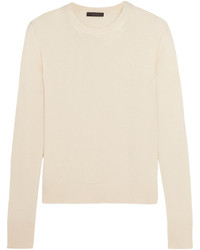 The Row Ghent Cashmere And Silk Blend Sweater Ivory