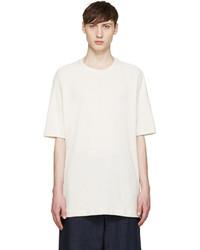 White Silk Crew-neck T-shirt