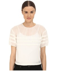 RED Valentino Crop Blouse With Stripe Detail