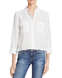 Equipment Signa Cropped Silk Shirt