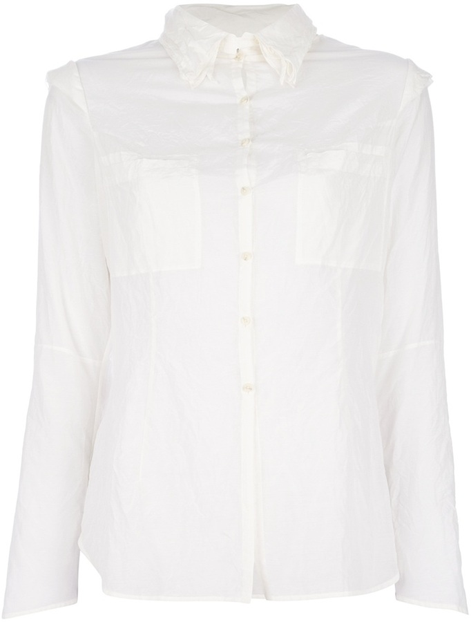 And A Anda Wrinkeled Button Down Shirt