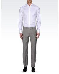 Armani Collezioni Shirt In Cotton And Silk With Cuff Links