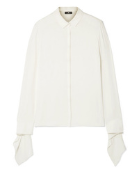 Akris Draped Silk Shirt
