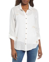 Wit & Wisdom Embroidered Shirt
