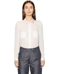 Emporio Armani Double Silk Georgette Shirt