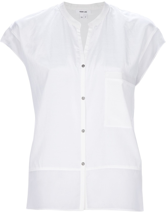 Helmut lang short button down shirt for Where to buy button down shirts