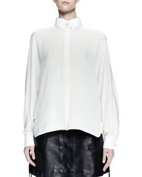 Lanvin Long Sleeve Collared Shirt White
