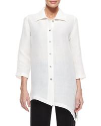 Caroline Rose Long Sleeve Ribwave Shirt Petite