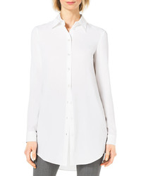 Michael Kors Michl Kors Long Sleeve Silk Blouse