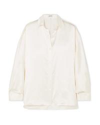 Loewe Oversized Frayed Satin Shirt