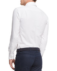 Bugatchi shaped fit sport shirt where to buy how to wear for Perfect white dress shirt