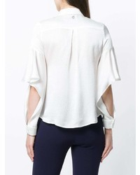 L'Autre Chose Ruffle Sleeved Shirt