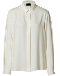 Fendi Silk Blouse In Milk White