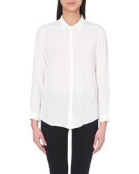 The Kooples Silk Crest Button Shirt