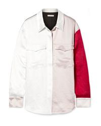 Rejina Pyo Sophie Color Block Washed Satin Shirt