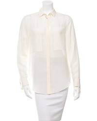 Alexander Wang T By Silk Button Up Blouse
