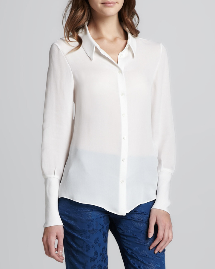 Theyskens 39 theory bamga button down shirt Buy white dress shirt