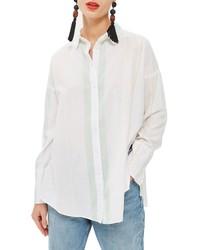 Topshop Washed Stripe Shirt