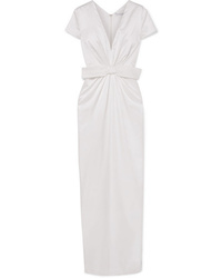 Emilia Wickstead Beatrice Ed Ruched Silk Satin Gown