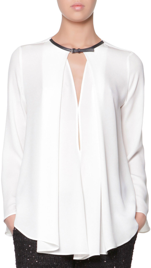 White Satin Blouse Long Sleeve 19