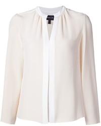 Long sleeve blouse with nehru collar medium 6571429