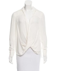 Derek Lam 10 Crosby Long Sleeve Silk Blouse