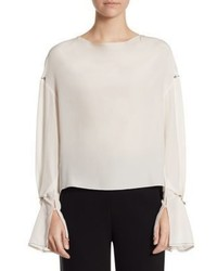 d0691a5b630be Women s White Silk Long Sleeve Blouses by 3.1 Phillip Lim