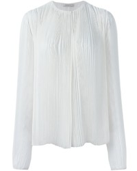 Nina Ricci Long Sleeve Pleated Blouse