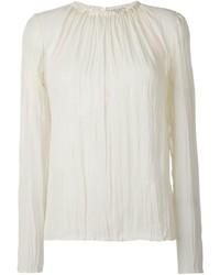 Nina Ricci Pleated Long Sleeve Blouse