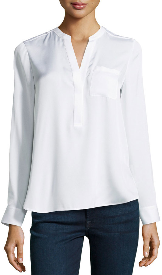 Wonderful WomensOfficeButtonDownShirtSilkySatinLongSleeveLadiesBlouse