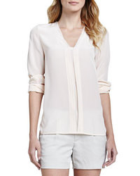 Vince Silk Long Sleeve Blouse Blossom
