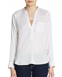 Vince Tailored Placket Blouse