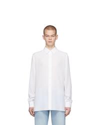 White Silk Long Sleeve Shirt