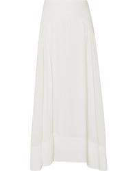 3.1 Phillip Lim Paneled Silk De Chine Maxi Skirt