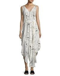 Sleeveless scarf hem midi dress white medium 3719609