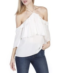 Paige Luciana Off The Shoulder Silk Top