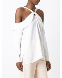 d936d74944c18 ... White Silk Off Shoulder Tops Proenza Schouler Off Shoulder Blouse  Proenza Schouler Off Shoulder Blouse ...