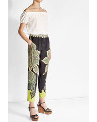 Etro Off The Shoulder Silk Top