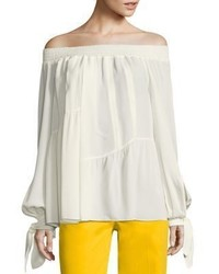 Derek Lam Silk Off The Shoulder Blouse