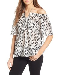 Tent silk off the shoulder top medium 3944253