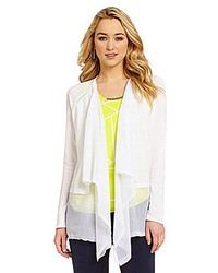 Dknyc sheer pieced covering cardigan medium 185142