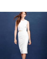 J.Crew Collection Pencil Skirt In Cotton Silk Twill