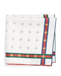 Gucci Runebis Silk Twill Pocket Square