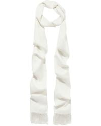 Haider Ackermann Fringed Silk Scarf Ivory