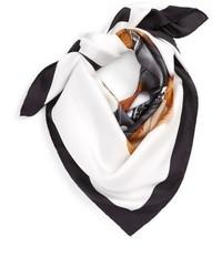 Moschino Bear Square Silk Scarf
