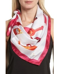 Kate Spade New York Hot Sauce Square Silk Scarf